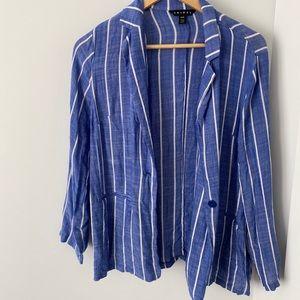 Thin cardigan/blazer blue striped